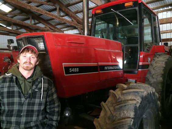 Dustin and his tractor