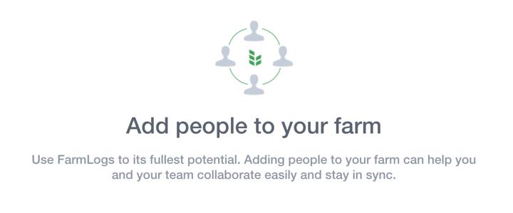 Adding people in FarmLogs
