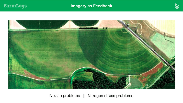Nozzle problems and nitrogen stress shown in imagery