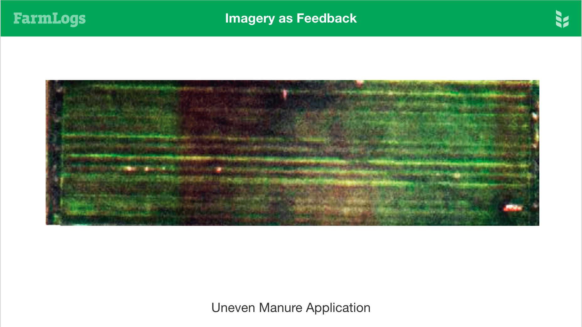 uneven manure application shown in imagery