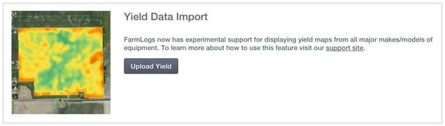Yield Data Import in FarmLogs