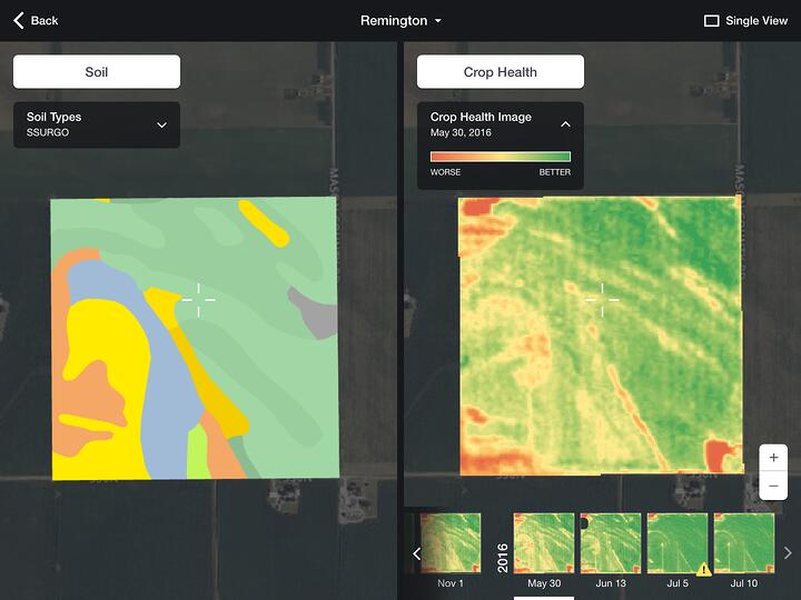 Field Data Explorer in FarmLogs
