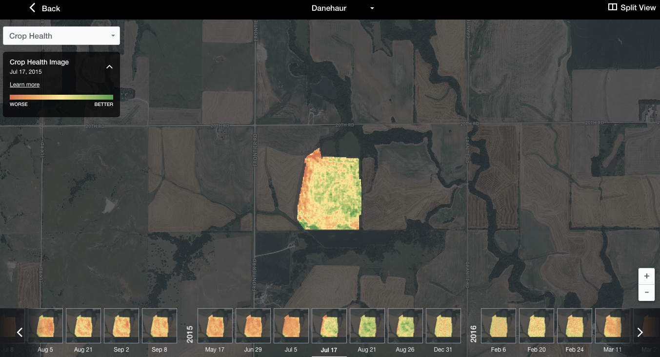 FarmLogs Crop Health Imagery