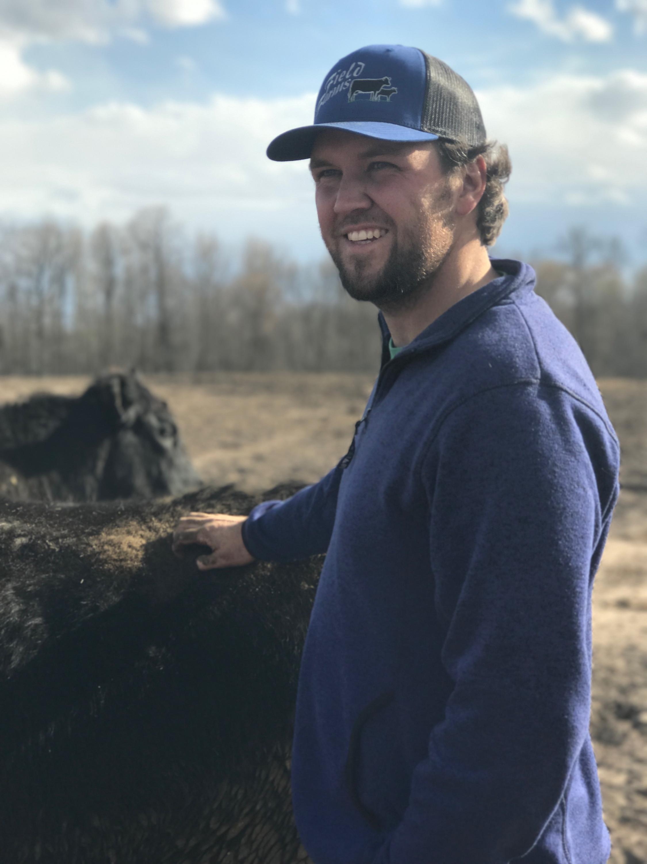 Mitch Field on his farm in Minnesota