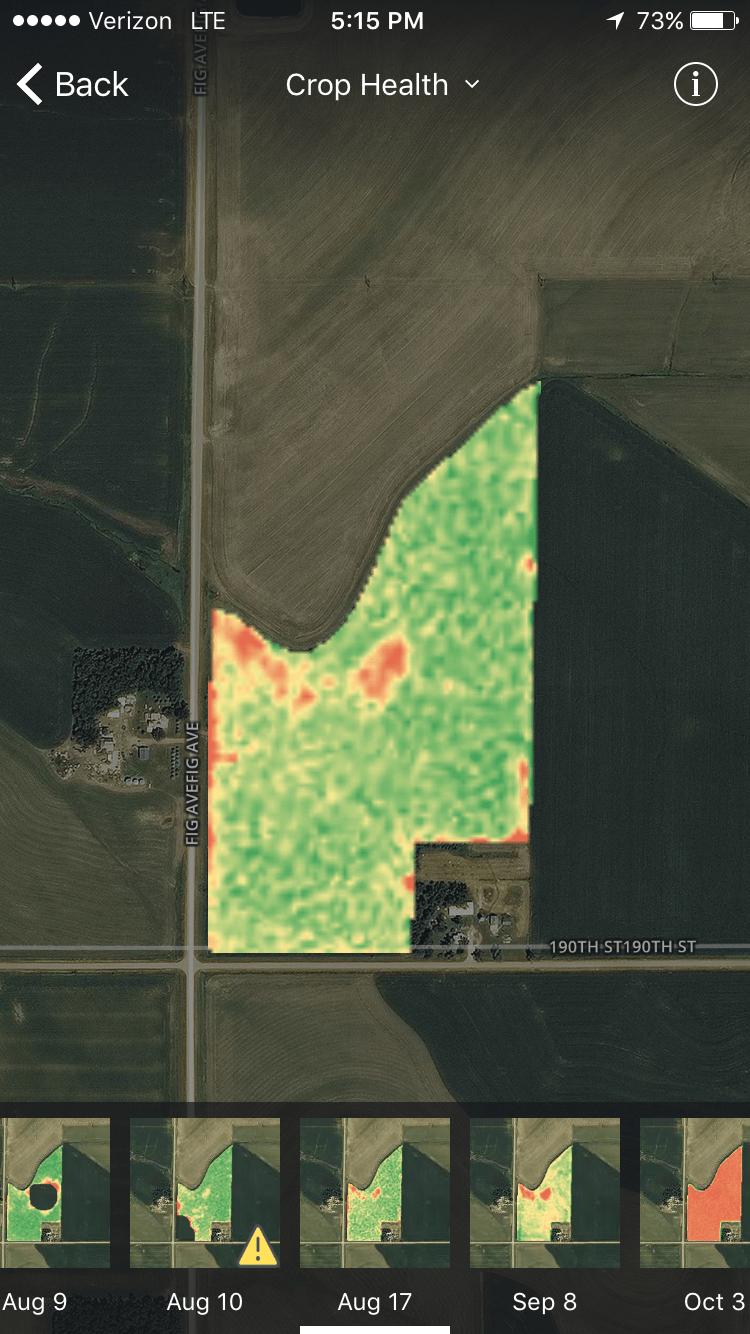 FarmLogs Crop Health Imagery