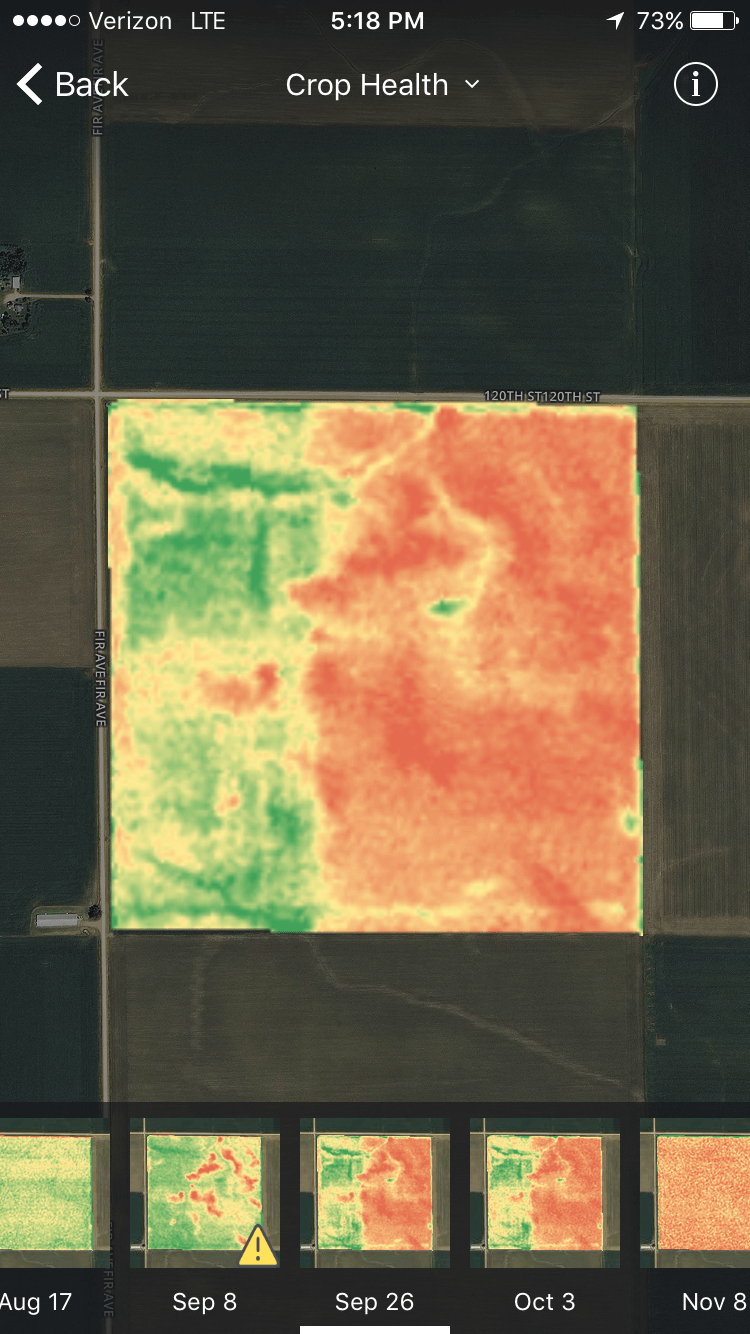 crop health imagery