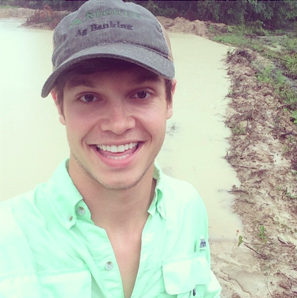 Walker on his family farm in Louisiana