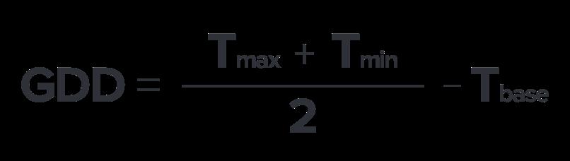 GDD formula