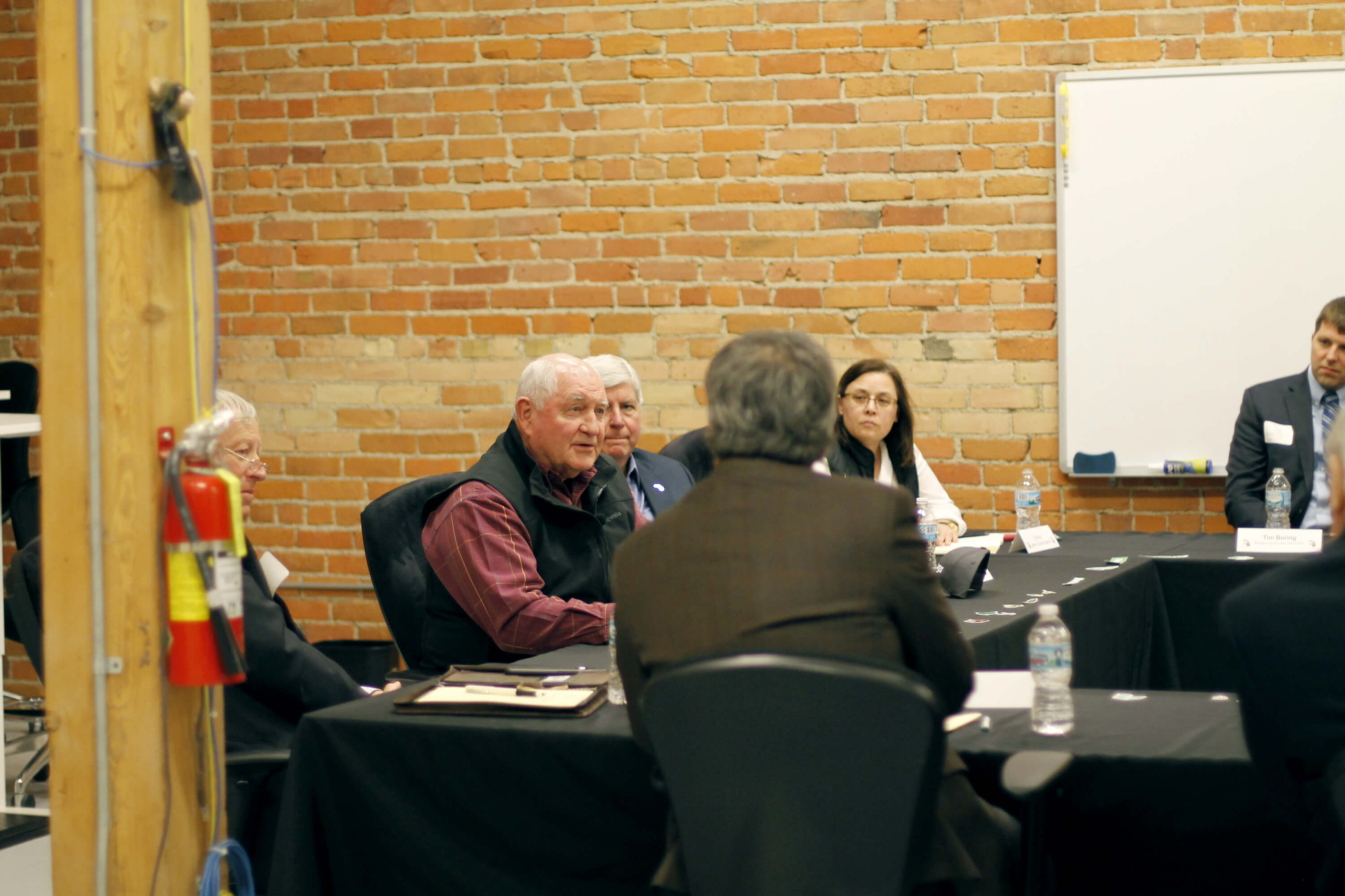 Sonny Perdue during the roundtable